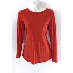 Boden orange long sleeve basic top Med